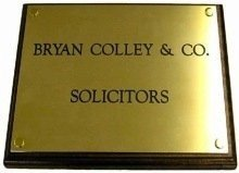 engraved brass plaques for the legal and medical professions - doctors, doctors surgeries, dentists, accountants, solicitors