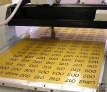 large batches of engraved labels, signs and plaques manufactured on powerful cnc machines