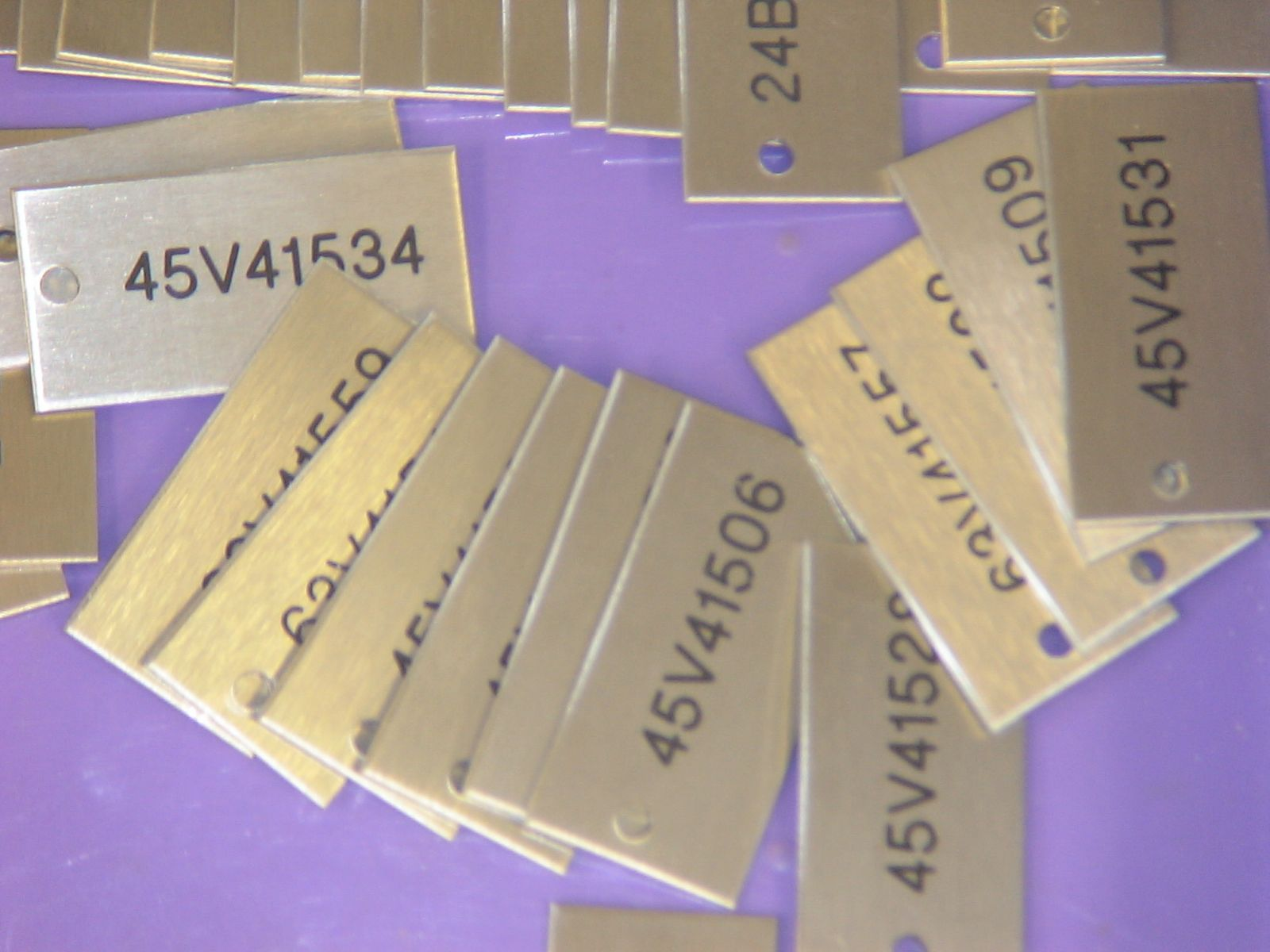 engraved stainless steel valve tags
