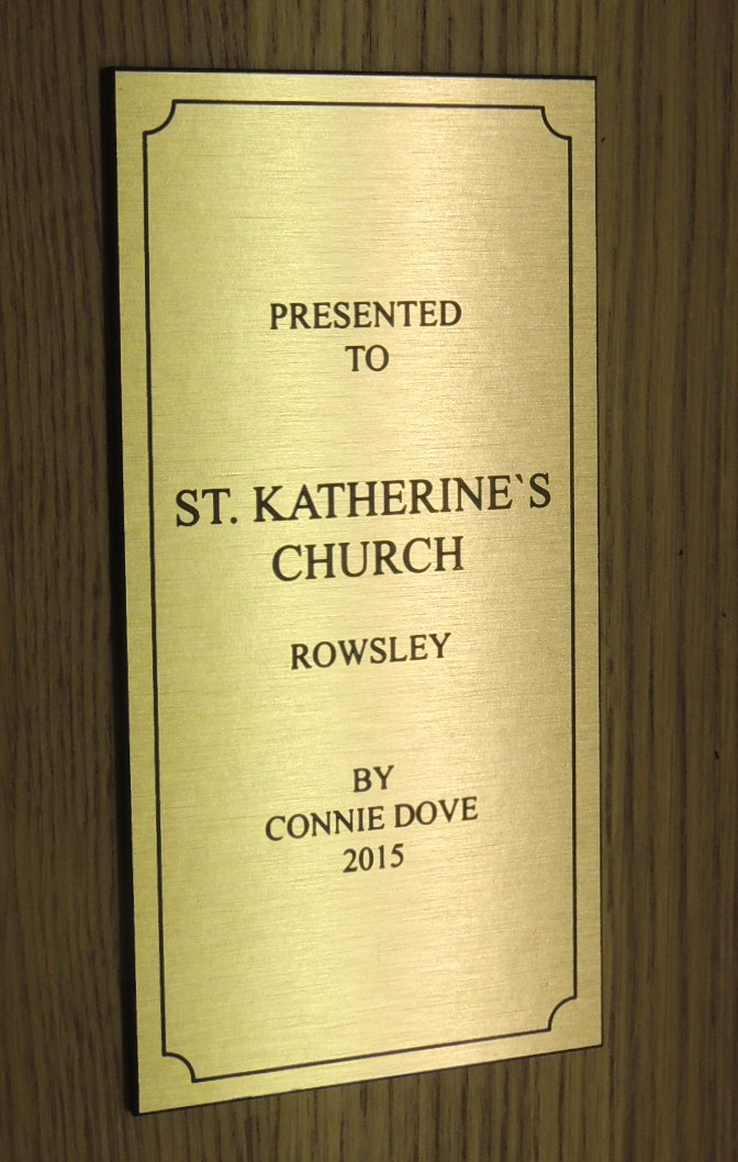 Engraved Presented to Plaque