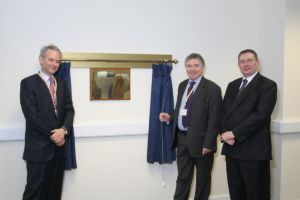 curtain hire along with engraved brass plaque for officially opened by ceremonies