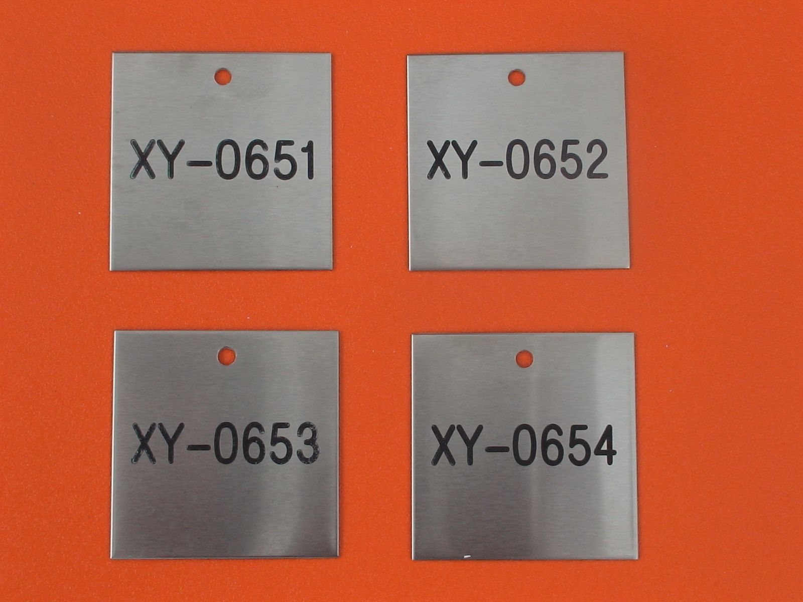 stainless steel valve tags 316