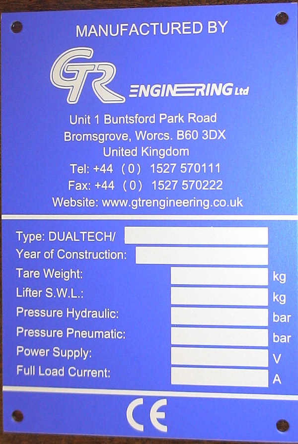 Specialist Industrial Engraving Etching And Printing