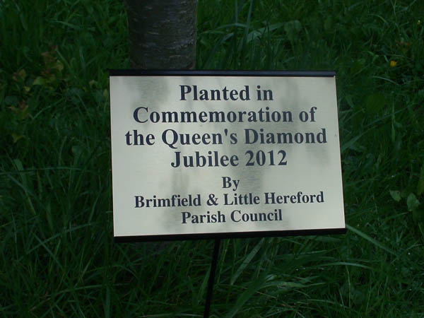 commemorative plaque Queen's Diamond Jubilee