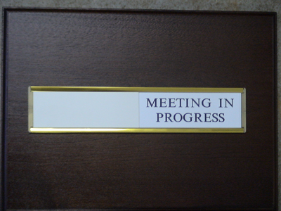 signs and sign holders for offices business premises