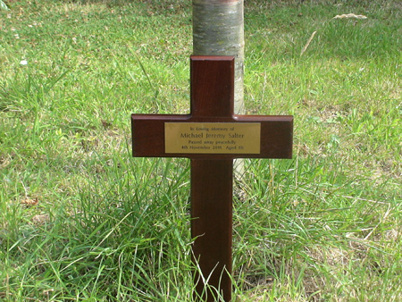 wooden cross memorial